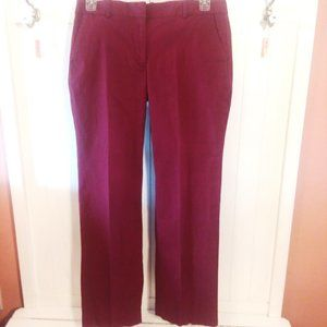 J.Crew Stretch Maroon Pants size 10R